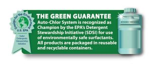 environmentally friendly, green kleen, safer choice, dishmachine, dishwasher, auto-chlor