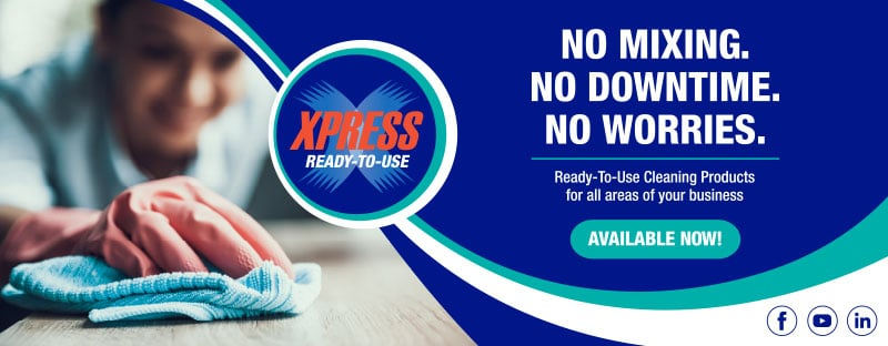 Ready to use, Xpress, cleaning products, commercial cleaning products, auto-chlor